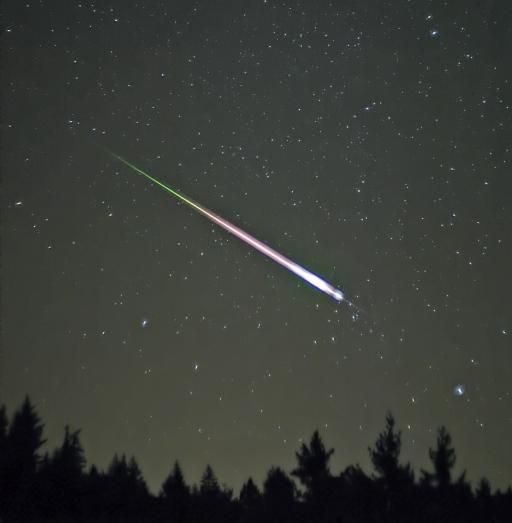 chuva de meteoro leonidas